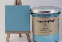 Farby i woski Byta-yta / Farby i woski do stylizacji mebli, drewna, szkła, ceramiki, kamienia, metalu, plastiku, tkanin, tapicerki i innych materiałów -Byta-yta