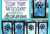 winter window decoration diy
