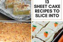 sheet Cake Recipes...
