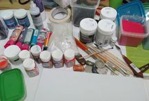 This is my craft room :-) / This is the place that i make my crafts :-)