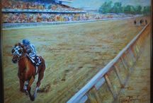 Race Horses In Art- Secretariat