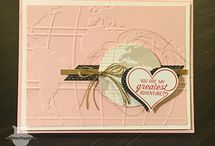 Going Places / Going Global Stamp Set en World Traveler Textured Impressions Embossing Folder