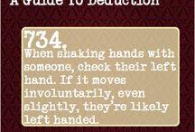 Fandom: Sherlock a guide to deduction / by Savannah Deters