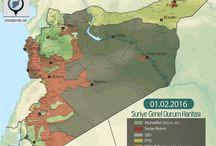 Güncel Savaş Haritaları / Suriye, Irak, Yemen ve Afganistan gibi ülkelerde ki son durum haritaları, sorunlu bölgeler, siyasi haritalar..