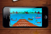 GO Fishing-iPhone Game App Free PSD by Mobisoft Infotech, via Behance