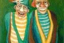 Zirkus-Clowns