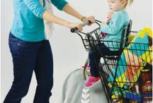 LullaBelay / The first and only adjustable strap system that safely secures an infant car seat to a shopping cart. Open up your cart, and easily shop with multiple children!