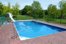 Outdoor Pool Designs With Water Slides / Outdoor Pool With White Water Slide wallpaper, is categorized within outdoor pool designs subject also pool designs theme and then outdoor pools with water slides field and thus outdoor pools topic coupled with