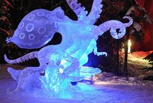 Escultura Pulpo led