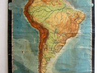 South america map poster