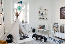 Kidsroom Scandinavian interior design / Inspiration for Scandinavian interior design mostly from Swedish real estate websites