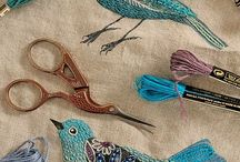 Embroidery / Birdies and beads and beautiful things