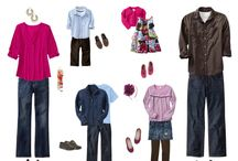 What to wear to your shoot / Some ideas of clothing combinations for you and your family on your shoot.
