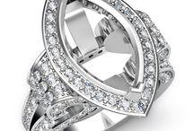 Marquise Shape Diamond Engagement Rings / Javda All Marquise Engagement Ring