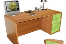 Alexis Collection Custom Office Furniture / We are makers of customizable office furniture, including a full selection of desks, credanzas and shelving. / by Contempo Space