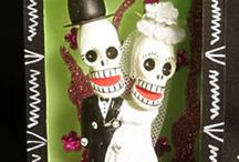 skeleton wedding cake toppers / Day of the Dead skeleton cake toppers celebrate Eternal Love in a humorous and cultural way.