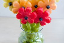 Edible flower arrangements