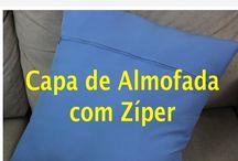 Capa para almofada com ziper