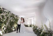 white green wedding