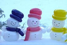 Merry Christmas decorations and festive inspiration. / Christmas is a magical time for families and friends. From Christmas parties, fun or elegant decorations to special gifts. Fun Snowmen to traditional Santa's, balloons bring the magic to any event!
