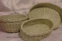 Koszyki z papierowej wikliny