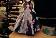 Doll fashion / Just thought id try something different dress making on a miniature scale lol x