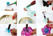 Creatief met plastic / knutselen met plastic flessen enz