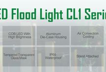 Flood Light CL1 / Cost-effective LED flood light CL1 focuses on landscape lighting and outdoor billboard and stadium lighting.
