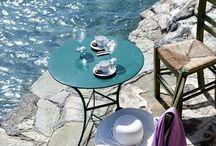 καλοκαιρινές γωνίες για  καφέ