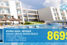 RIVIERA MAYA, MEXIQUE / Grand Sirenis Mayan Beach - 5*  15 juin 2015 - 7 jours - tout inclus
