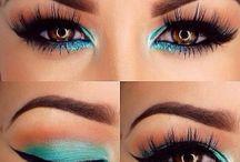 make up __ brown eyes