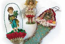 Folk Art: Victorian and Modern Scrap Ornaments / Ideas and links for visitors to use in their own scrap Christmas ornaments. / by Kathy Grimm