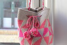 Hæklede tasker og punge