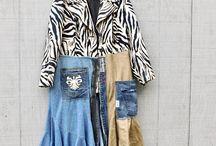 ubrania z kawałków