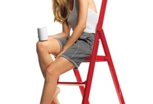 Step Ladders / Functional, slimline, good looking step ladder for reaching higher shelves and cupboards