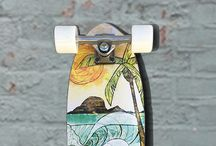 Freestyle Longboard Skateboard / A collection of Freestyle longboards skateboards