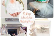 Recycling wedding dress