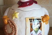 My Cowboy Snowman Dishes