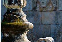 sculptures and garden accessories