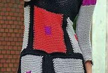 Sukienki na drutach, szydełku