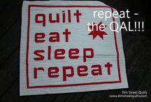 repeat QAL / paper piecing QAL quilt, eat, sleep, repeat