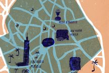 Map & Travel illustration