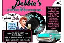 "50's Party: I Love Lucy - Debbie's / My sister-in-law has always act like Lucille Ball from ""I Love Lucy"". So for her 60th BDay her 2 daughters gave her a surprise party. Theme: 50's I Love Lucy. This is my take on the 50's."