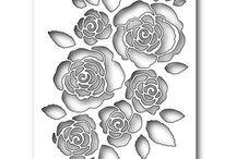 english rose collage die