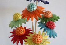 keramické kytky