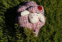 Ovejas Country Patchwork / Estás dulces ovejas decorarán cualquier zona de tu hogar. Elaboradas a mano con mucho mimo.