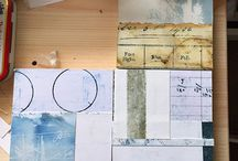 process / All the various processes of art being created, from cyanotype to collage art to abstract art.