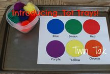 Tot Trays / Tot trays are simple, cheap and easy activities for children that reinforce any skill - from math or language arts to practical skills, like learning how to pour. We plan to do them on a regular basis!
