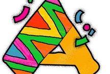 ABC  FESTIVO / Abecedario, Simbolos y Números para decorar fiestas