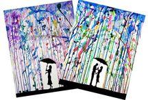 arts plastiques encre pluie